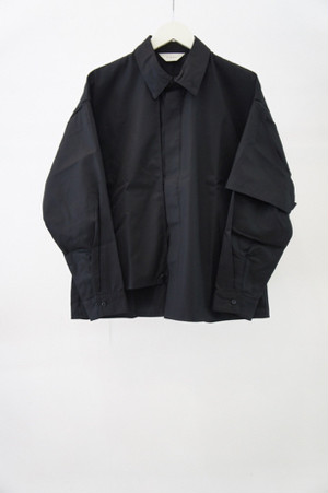 T/C FLAP SHIRT -BLACK- / JieDa