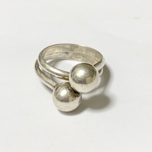 Vintage Double Ball  Design  Silver Ring