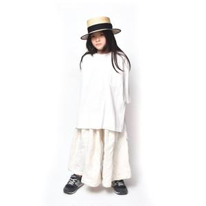 DRESS MONSTER / サイドスリットT ホワイト 5/6/7