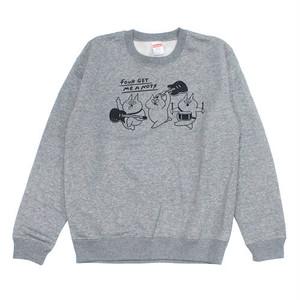 """""""Crazy cats"""" Crew Neck Sweater Gray"""