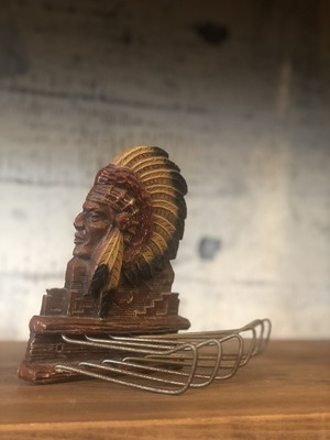 50s ビンテージ インディアン ネイティブアメリカン USA イタリア ネクタイ
