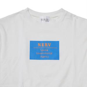 【FLOWER by RADIO EVA 019】NERV Box and Lettering Long T-Shirt  WHITE / EVANGELION エヴァンゲリオン