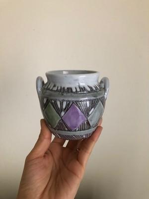北欧 Laholm Keramik ポット型ミニフラワーベース ヴィンテージ
