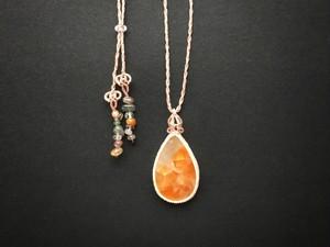 レインボーカルサイト macrame necklace