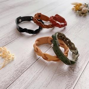 本革ブレスレットA 名入れ(焼印)無料 バッグチャーム カラーオーダー  姫路レザー