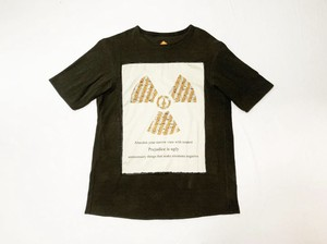 20SS 硫化染め綿麻Tシャツ / Sulfide dyeing cotton linen T-shirts / Ink brown