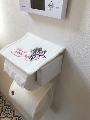 ウサヒとトイレの紙隠し