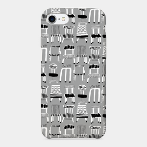 【chairs-mono】 phone case (iPhone / android)
