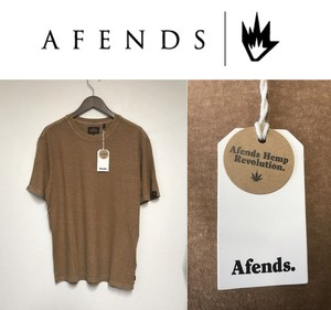 AFENDS. Stoned Hemp Retro Fit Tee / TOBACCO