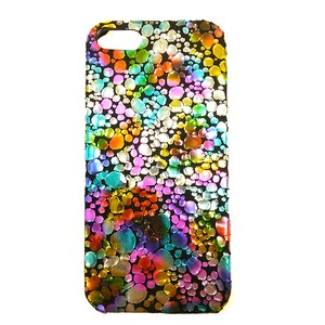 iPhoneケース for iPhone5/5s [Water Drop] Multi × Black