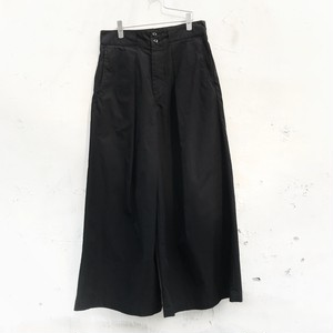 JieDa big tuck pants black