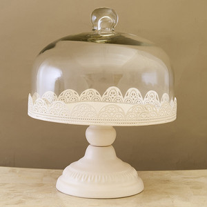 French Iron Display Dome~White~