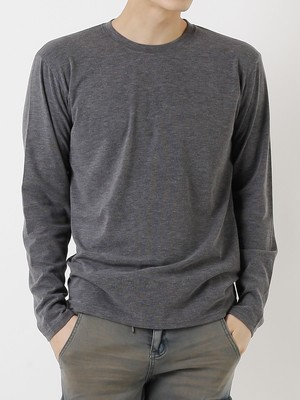 【即日出荷】シンプルワッフルロングTシャツ シンプル メンズ 無地 長袖 ロングスリーブ