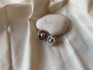 <vintage silver925>retoro ball earrings