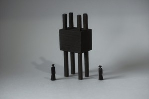 (034)wood figure-mini &structure 箱入 018