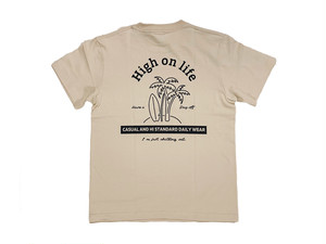 【high on life T-shirt】/ sand beige