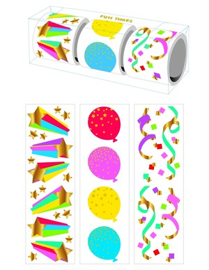 Fun Times 3-roll Sticker Gift Box