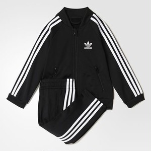 adidas Kids Superstar Track Suit Black