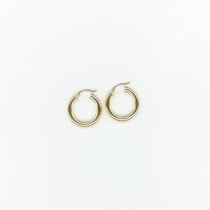 【14K-2-4】14K gold medium hoop earring