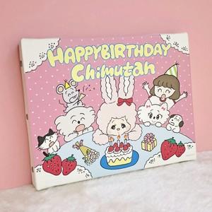 チムたん×りかちゃん(HAPPY BIRTH DAY)複製キャンバス