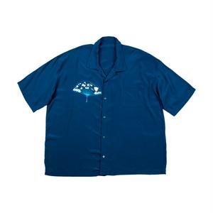 PORTER CLASSIC Sensu Aloha Shirt Navy PC-024-1079-41