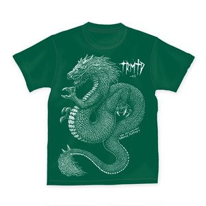 TRMTD-003 SAVAGE GRAGON T-SHIRTS artwork by TKKR THE ART DEMON【グリーン】