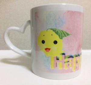 Happy♡Linkハートマグカップ