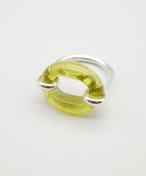 【CLED / クレッド】IN THE LOOP Ring / リング / Sterling silver×Light Olive