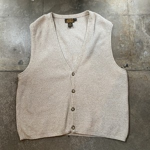 90s Eddie Bauer Cotton Knit Vest / USA