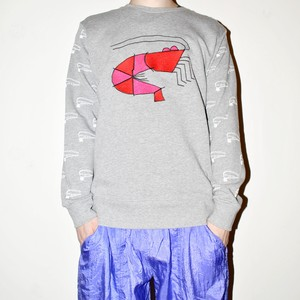 『くるむ』shrimps sweatshirt