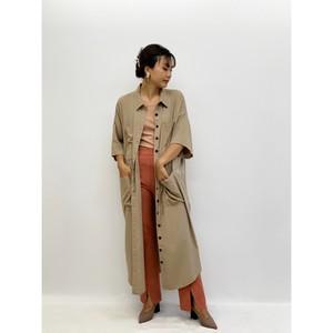 MANIC MONDAY・ブラックボタンシャツドレス(1W63009E)
