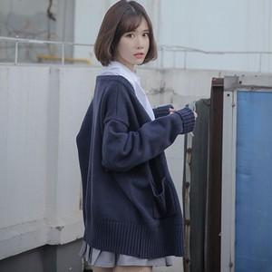 【アウター】ファッションスウィートVネックニット長袖カーディガン26677238