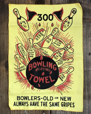 BOWLING CRYING TOWEL(yellow)/ボーリングタオル USA 70's ビンテージ 希少