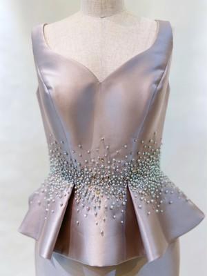 DS-22 ペプラムドレス ショール付き