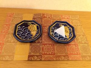 オリジナル盛り塩皿「青海波と亀」