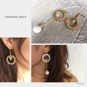 【R2042】asymmetry pierce (earring イヤリング)