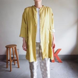 スプリングリネン アトリエ七分袖シャツ 11S67 サイズ2