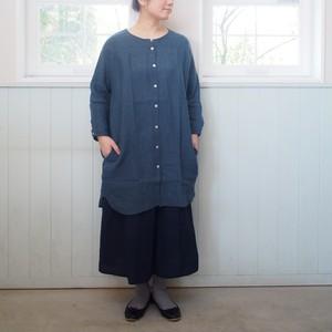 YAMMA リネンビッグシャツ ロング丈 BI-SH-L ヤンマ産業