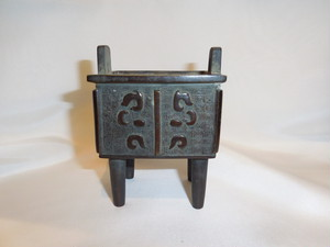 鼎(かなえ) 香炉 Bronze incense burner(No6)