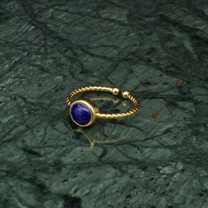 SINGLE MINI STONE RING GOLD 053