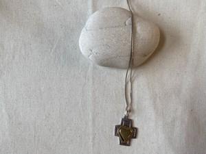<vintage silver925>heart cross necklace