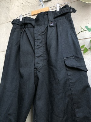 1960s Australian military Gurkha trousers overdyed black color