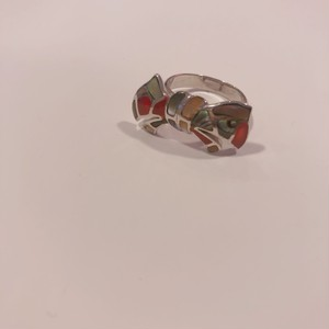 925silver Mosaic ribbon ring