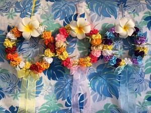 ハワイアンリボンレイ(レシピなし)【プリティ♪マリーゴールドリース キット】