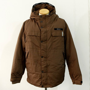 【RVCA】MOUNTAIN PUFFER JACKET (BROWN)