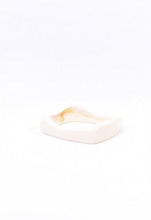organic square bangle / ivory