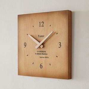 木製 壁掛け時計 スクエア BREA-1586