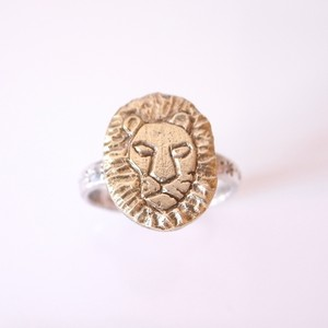 [Silver925と真鍮]ライオンリング