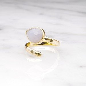 SINGLE STONE OPEN RING GOLD 018