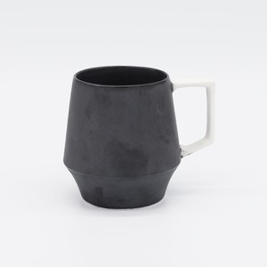マグカップ【上MAT BLACK下MAT BLACK ハンドルWHITE】